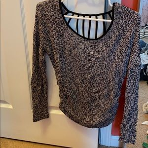 Long sleeve shirt with open back